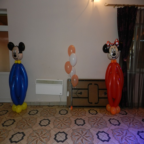 Mickey & Minnie decor intrare photo corner