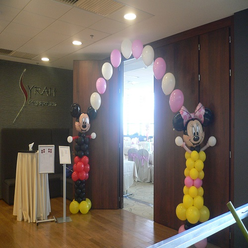 Mickey & Minnie decor intrare sala FP1