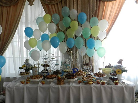 Decor candy bar baloane cu heliu FP9