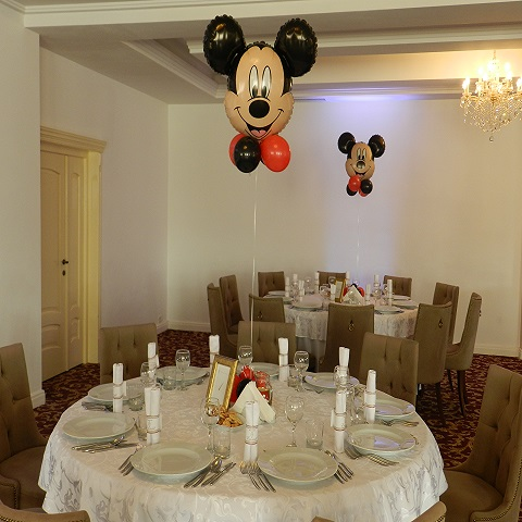 Mickey heliu, decor masa