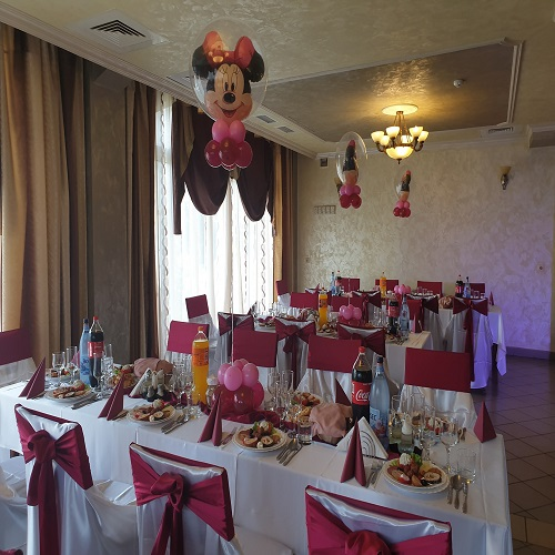 Minnie bubble cu heliu decor masa
