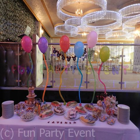 Decor candy bar baloane cu heliu si carlionti FP6
