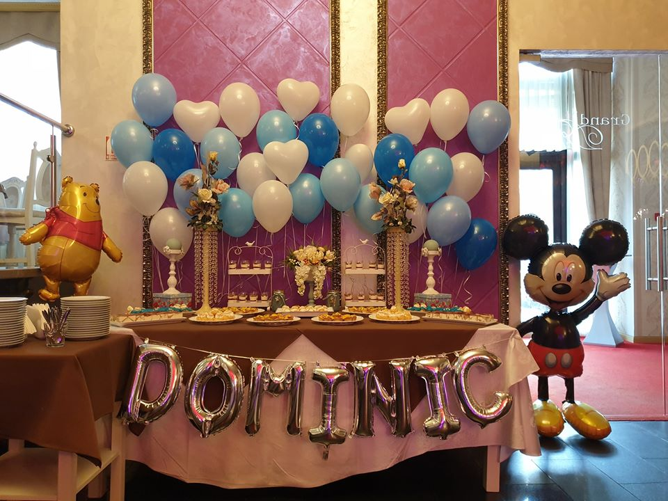 Decor botez candy bar baloane cu heliu FP1