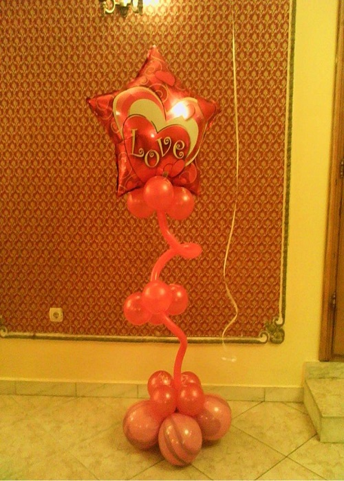 Decor baloane Valentine's Day
